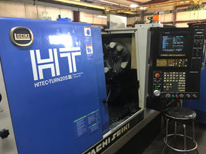 Hitachi Seiki HITEC-TURN20s III CNC Turning Center with Chip Conveyor & Manuals