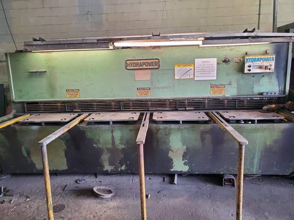 "3/8"" x 12' HydraPower/Rockwell Sh-3012 Shear, 1980s- Under Power Video Available"