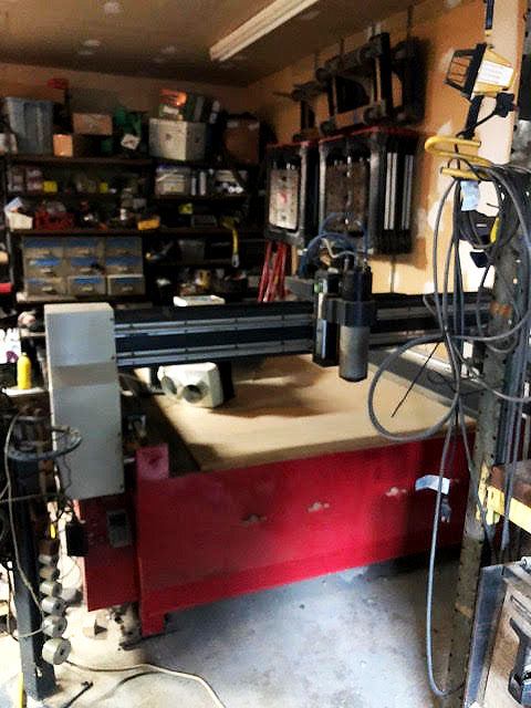 2008 Vortech 8' water cooled CNC router table