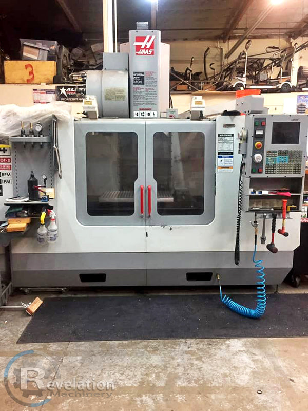 2003 Haas VF-4B 4 Axis VMC, 2 Speed Gearbox, Sidemount ATC, 10k RPM, New Spindle