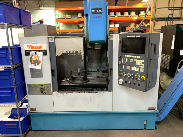 1996 Mazak VTC 16A VMC, Under Power Video Available