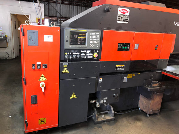 22 Ton Amada Vipros 255 CNC Turret Punch, 2002- Video Available