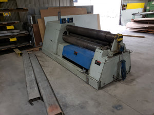 7/16'' x 5' WDM Hydraulic Pyramid Style Plate Roll, Model 100-8-5, 1996, Very Light Usage, Under-Power