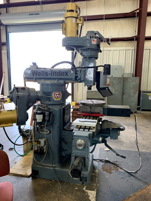 "2018 Wells-Index 860 48""X 10 Table 4200 Rpm 4-Axis CNC Mill with M-400 Centroid Control"
