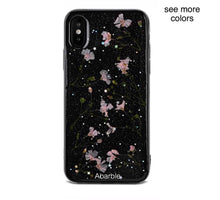 Black Dried Flowers iPhone Case