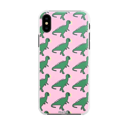 Pink Dinosaur iPhone Case
