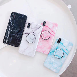 Pink Marble iPhone Case + Grip