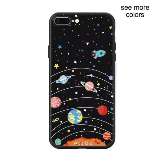 Matte Planets iPhone Case