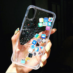 Glitter Floating Quicksand iPhone Case