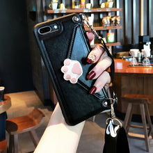 Fashion Crossbody Wallet with Strap iPhone Case