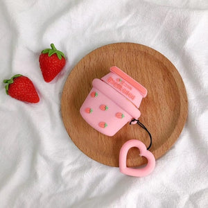 Strawberry Milk Airpod Case