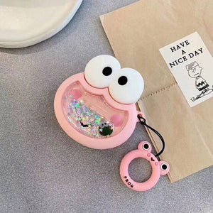 Quicksand Pink Frog Airpod Case
