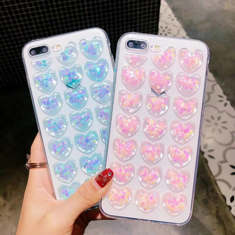 3D Bling Love Heart IPhone Case