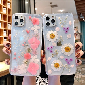 Dried Blooming Flowers iPhone Case