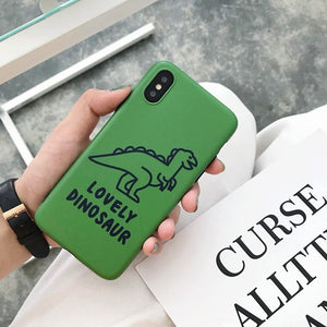 Green Dinosaur iPhone Case