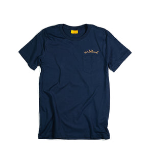 Navy Embroidered Pocket Tee