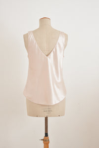 Vintage satin ivory slip on blouse-