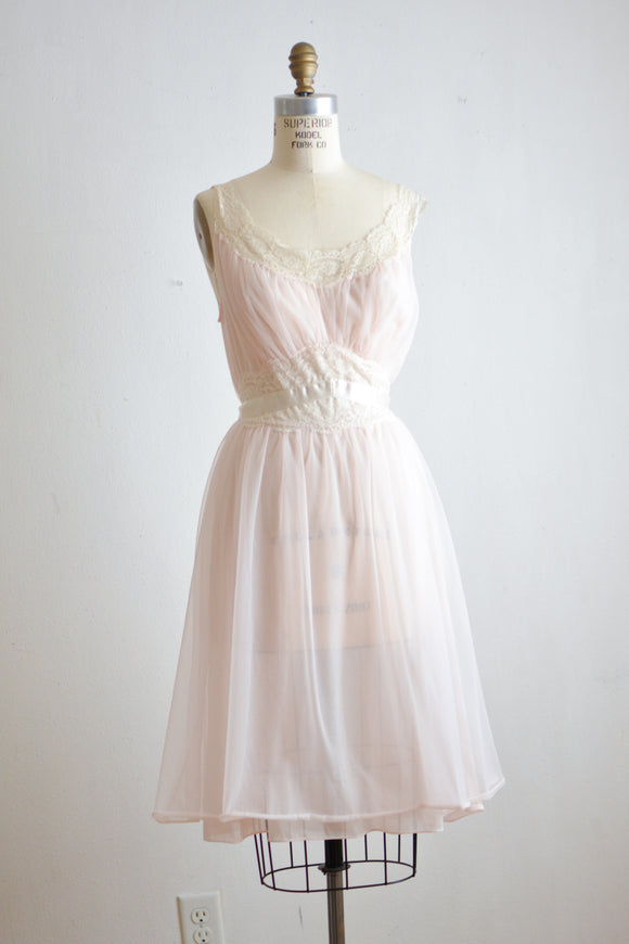 Vintage midi romantic slip dress-Med