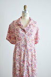 Vintage roses dress buttoned down 1990's dream- XL