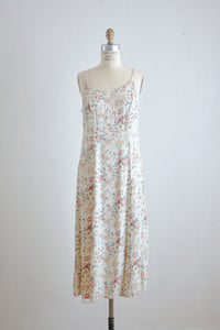 Vintage roses slip dress 90's -Small