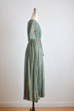 Vintage maxi dress 1990's dreamy olive slip on-Medium