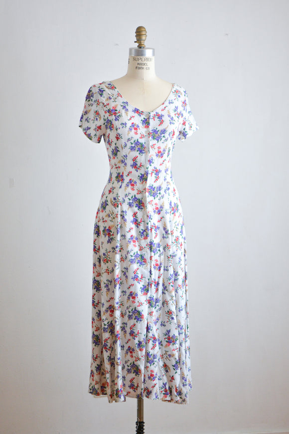 Vintage spring bouquet dress -small