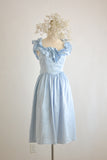Vintage light blue dreamy dress-Xsmall