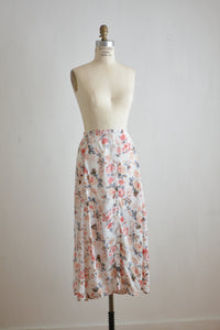 Vintage buttoned down skirt floral-Small
