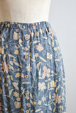 Vintage buttoned down skirt blue-Medium