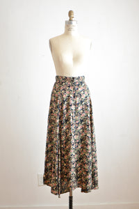 Vintage buttoned down skirt midi -Small