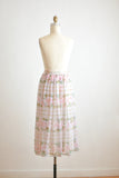 Vintage romantic lily skirt flared-Small