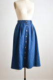 Vintage denim buttoned down skirt- Small/Medium