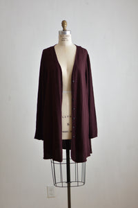 Vintage plum color cardigan-Medium
