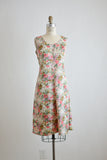 Vintage floral dress romantic-Medium