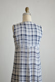 Vintage gingham dress buttoned down-Small