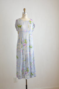 Vintage sheer floral slip on dress-