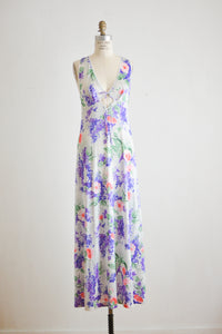 Vintage wisteria slip dress-Small