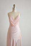 Vintage pink silk dress -Small
