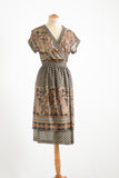 Vintage wrap lightweight dress - Med