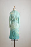 Vintage green midi dress - Med