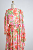 Vintage silk Diane Freis dress-S/M