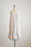 Vintage striped cotton candy dress-small