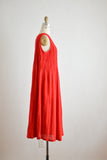 Vintage dark red dress slip on- Large