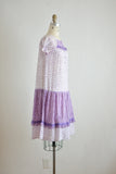Vintage slip on purple dress-XS