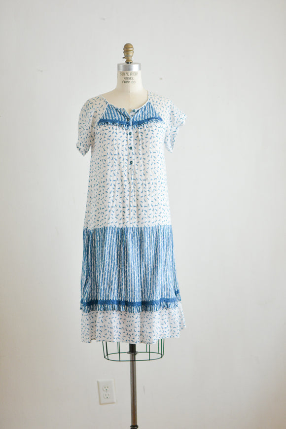 Vintage cotton slip dress-XS