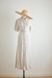 Vintage striped linen dress-L