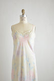 vintage semi sheer slip dress -M