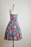Gorgeous vintage floral midi dress-Xs