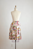 Vintage linen skirt buttoned down -Xsmall