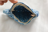 Vintage 1940's blue knit bag